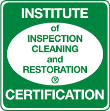 Institute of Inspection Cleaning and Restoration Certificate.